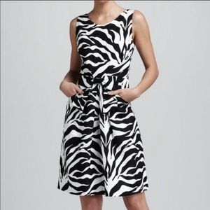 Kate Spade Linen Jillian Zebra Print summer dress